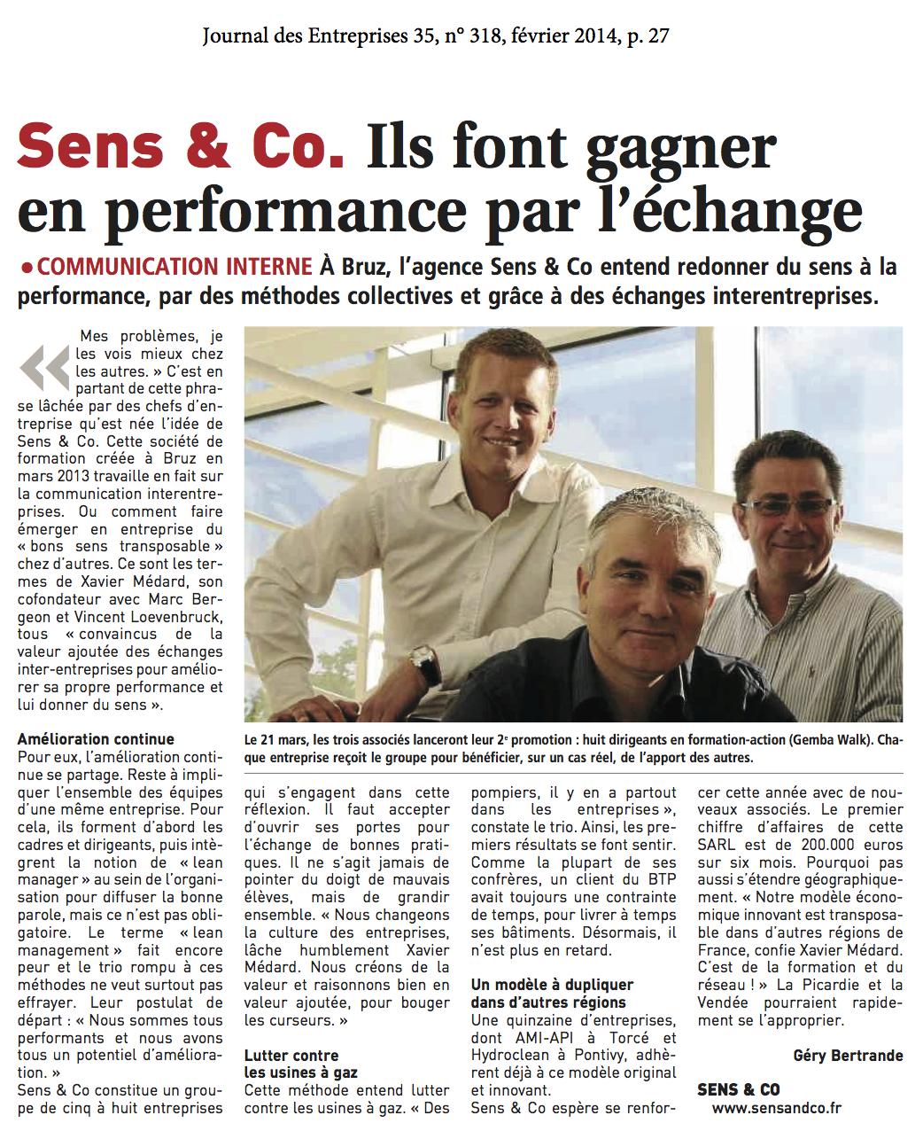 2014-02 Article Sens&Co JDE