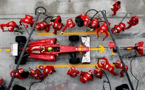 F1 changement pneus Formation SMED Sens&co